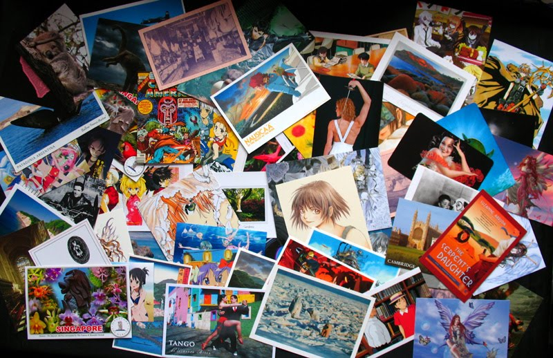 Many postcards