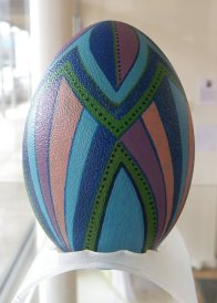 Painted Emu Egg by Josie Johnson