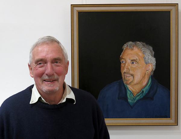 Clive Cocum with his self-portrait