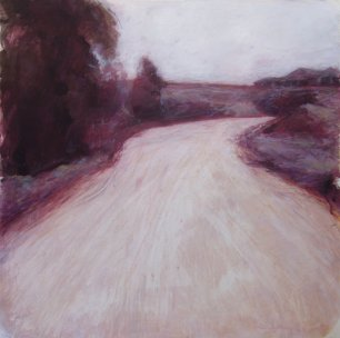 "A Rick Andersen ""Coopers Gully Rd"" mixed media 77 x 77 cm"