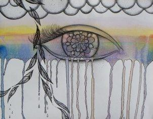 "K Polly Crowden ""Wandering Mind - The Eye"" 26 x 21 cm"