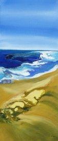 "Y Jane Murphy ""Seascape"" Acrylic on canvas 25 x 62 cm"